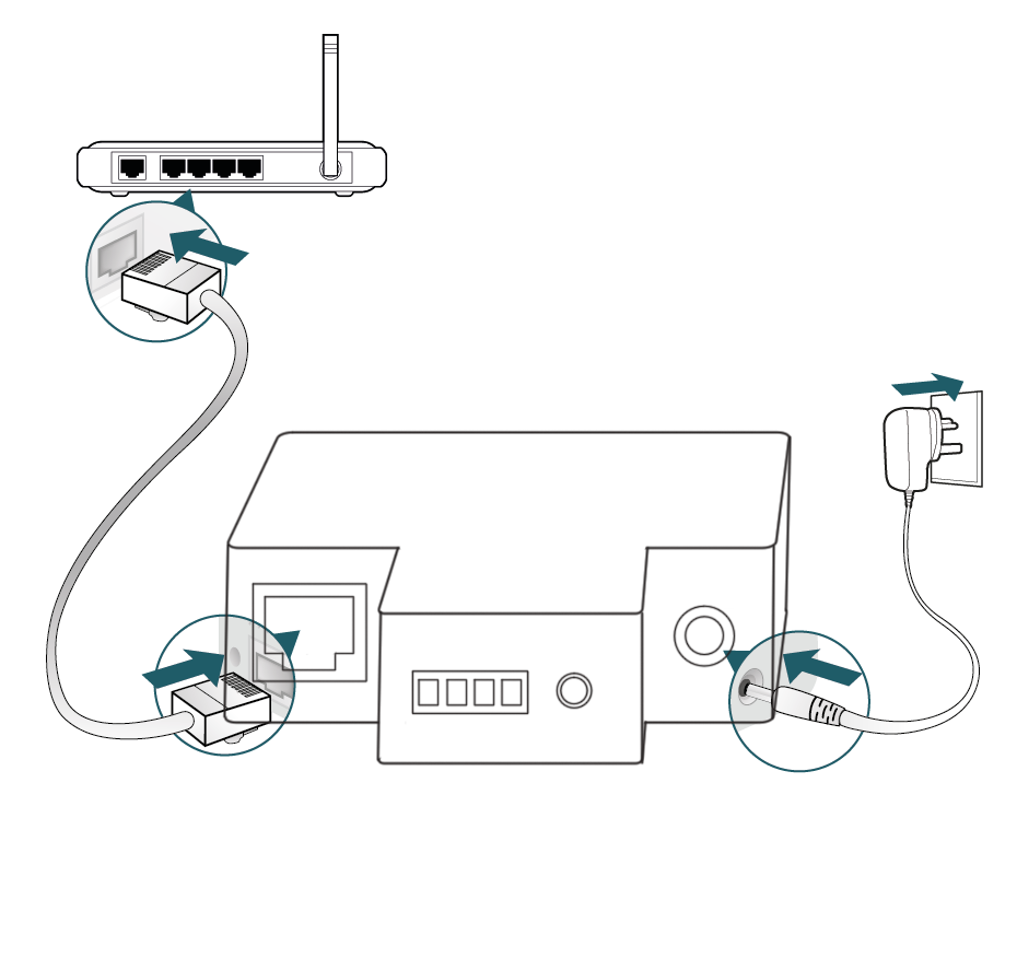 TT730LPW connects to router