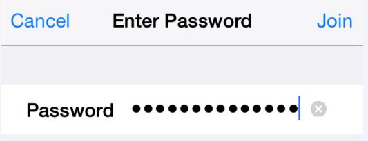 Enter wifi cryptogram