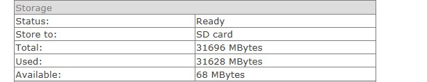 View the sd card status