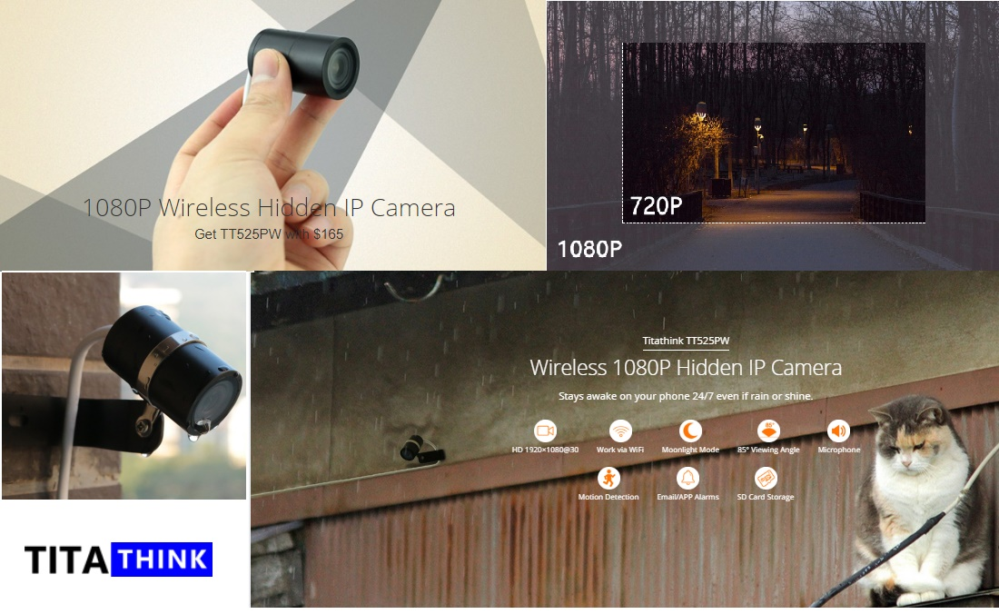 tt525pw small mini cam, 1080p wireless security camera, waterproof for outdoor surveillance