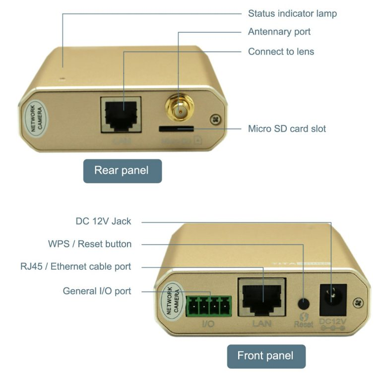 TT526PW Wireless Wi-Fi 1080P Night Vision Small Hidden IP Camera